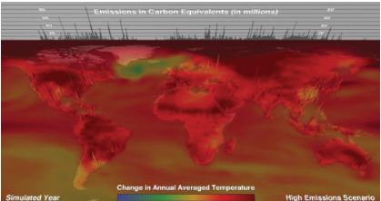 An image of a climate model